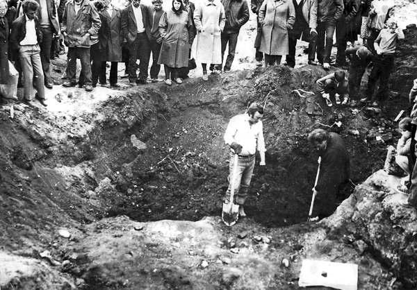 Исследования массового захоронения вблизи Ивано-Франковска. Демьянов Лаз. 1989 г.